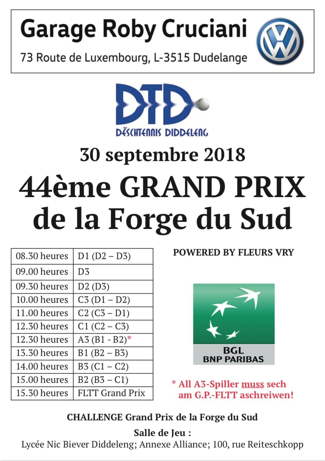 44. Grand Prix de la Forge du Sud