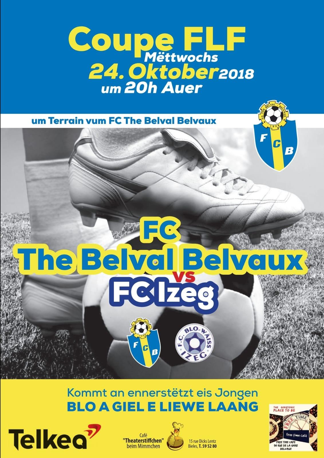 FC THE BELVAL BELVAUX vs BLO-WAISS IZEG (24.10.18 20h00)