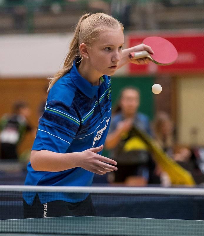 Lisa Göbecke mit Rang 8 und Luc Röttig mit Rang 27 beim DTTB Top 48 Turnier