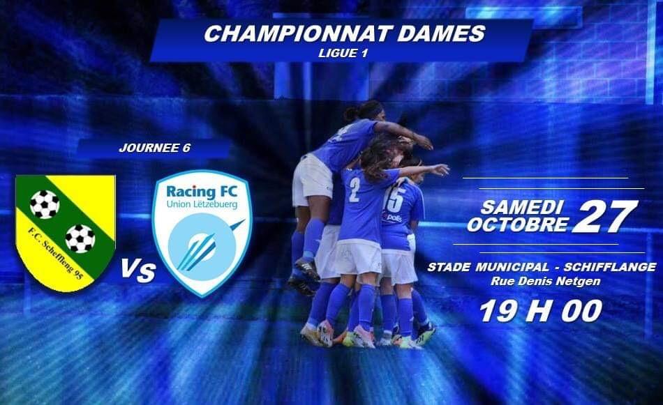CHAMPIONNAT DAMES LIGUE 1 - JOURNÉE 6
