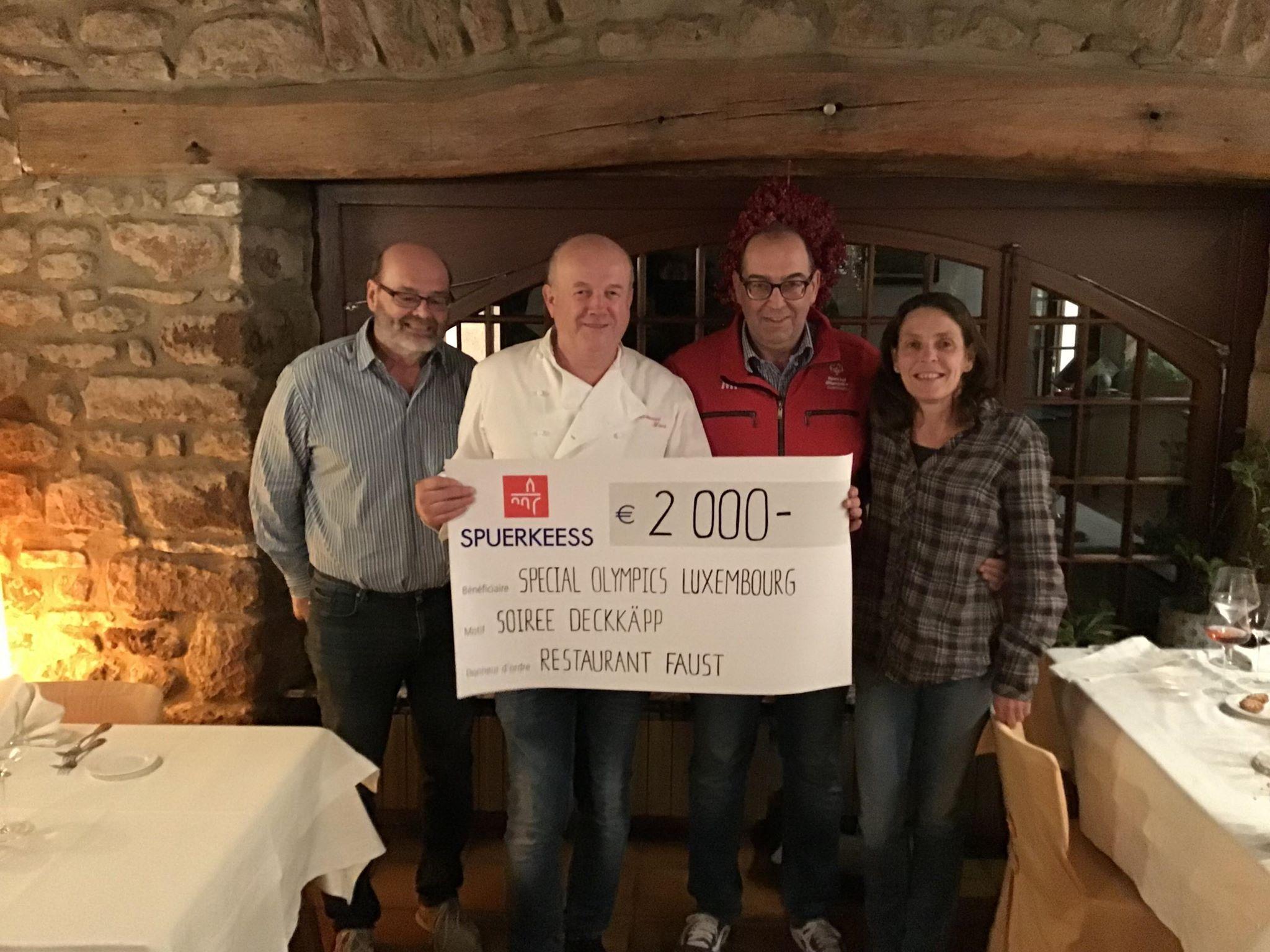 Chèque Restaurant Faust fir Soirée Déckkäpp