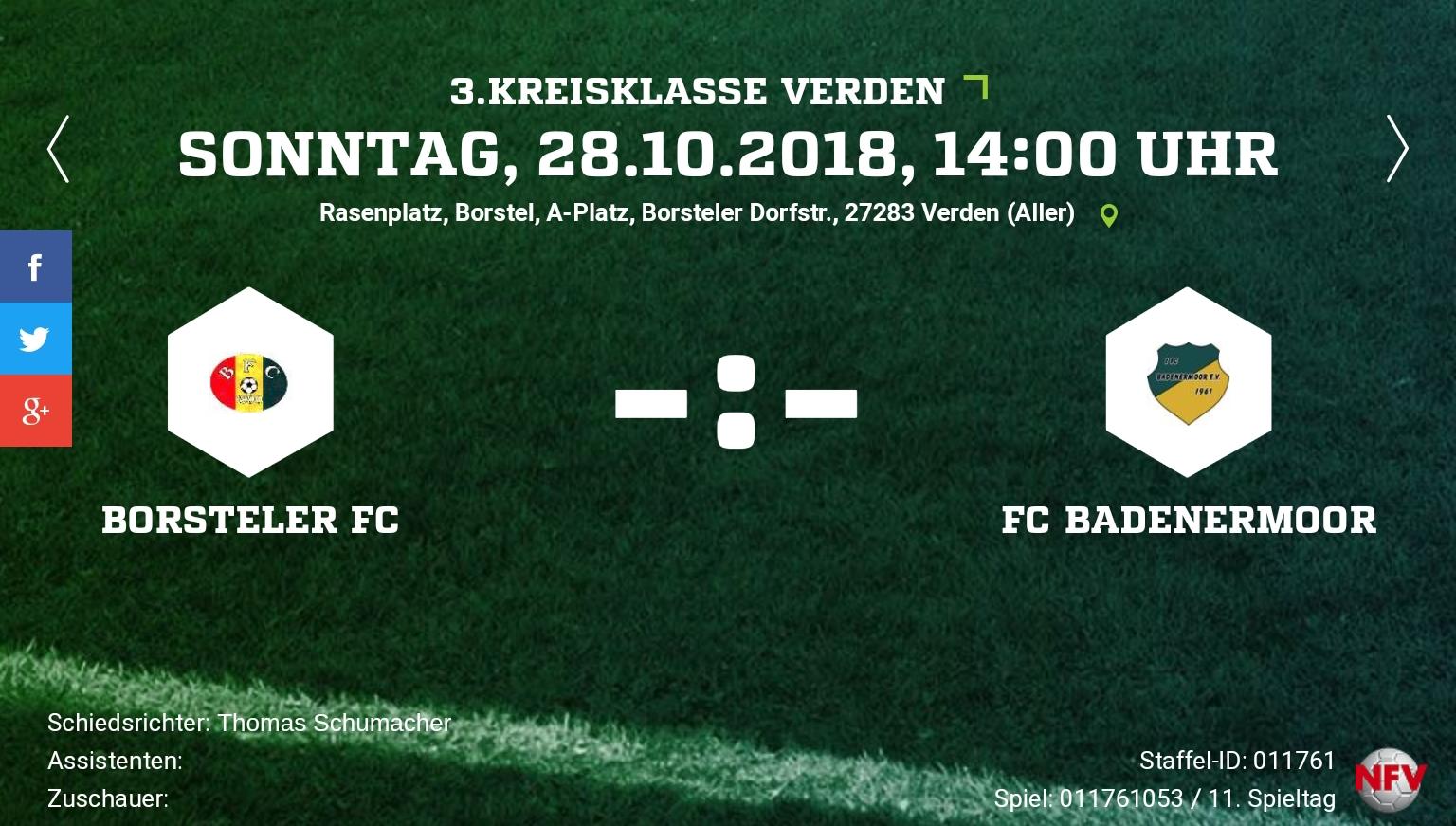 Auswärtsspiel beim Borstel FC