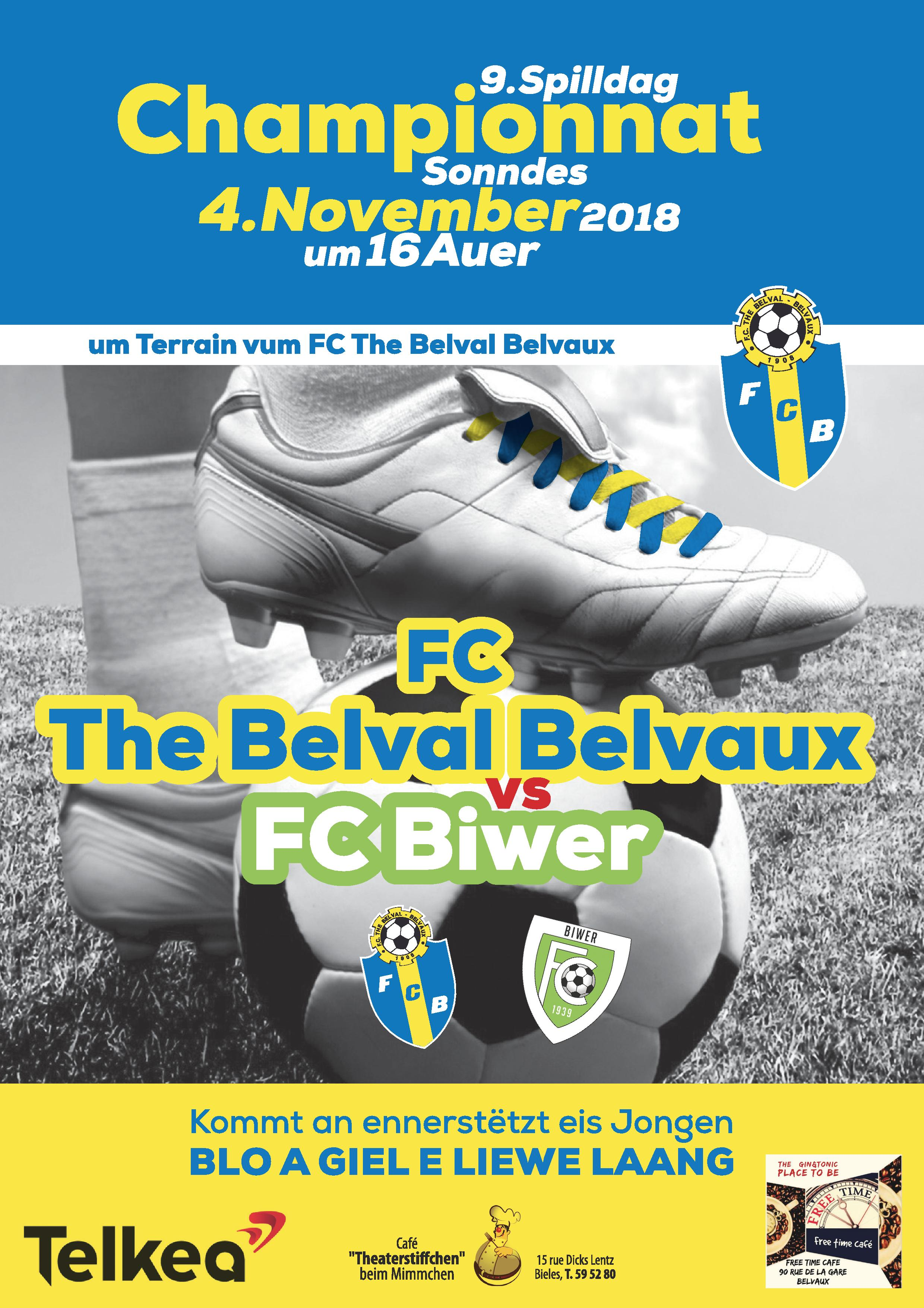 FC THE BELVAL BELVAUX vs JEUNESSE BIWER (04.11.18 16h00)