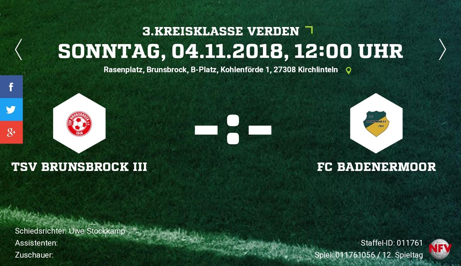 Auswärtsspiel  beim TSV Brunsbrock  3