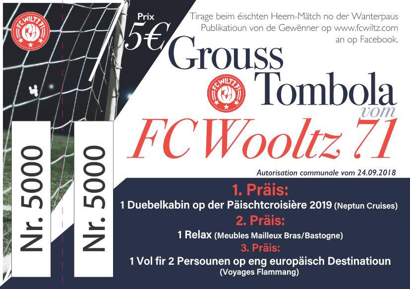 GROUSS TOMBOLA VOM FC WOOLTZ 71