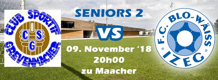 Seniors 2: CS Grevenmacher - FC Blo-Wäiss IZEG