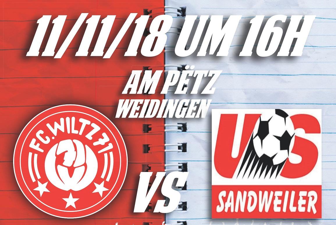FC WOOLTZ 71  vs US SANDWEILER