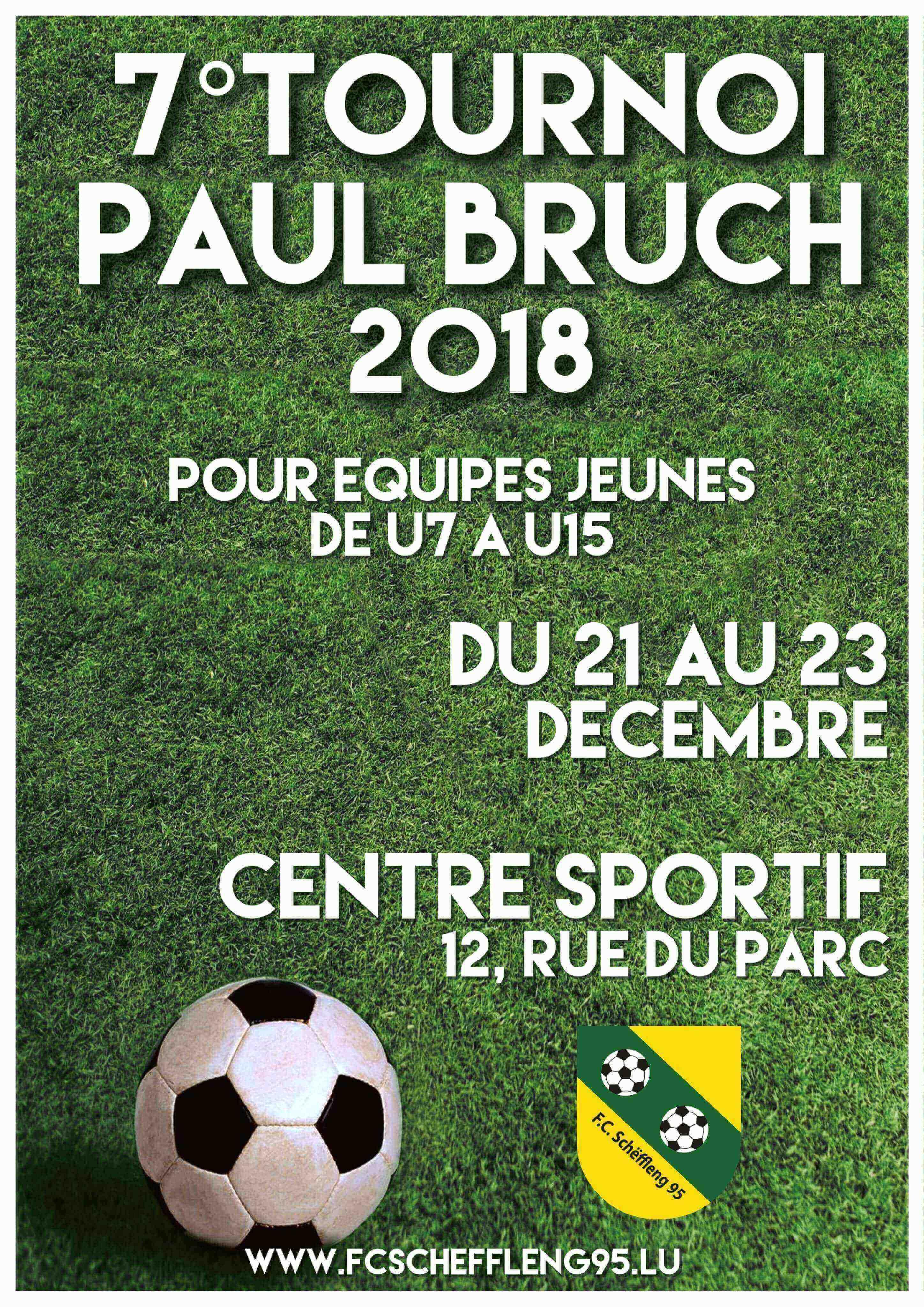 tournoi de Noël Paul Bruch 21-23 décembre