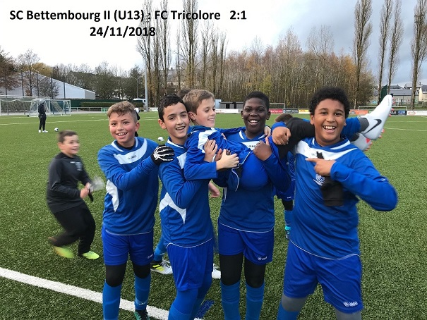 SC Bettembourg remporte le match contre FC Tricolore