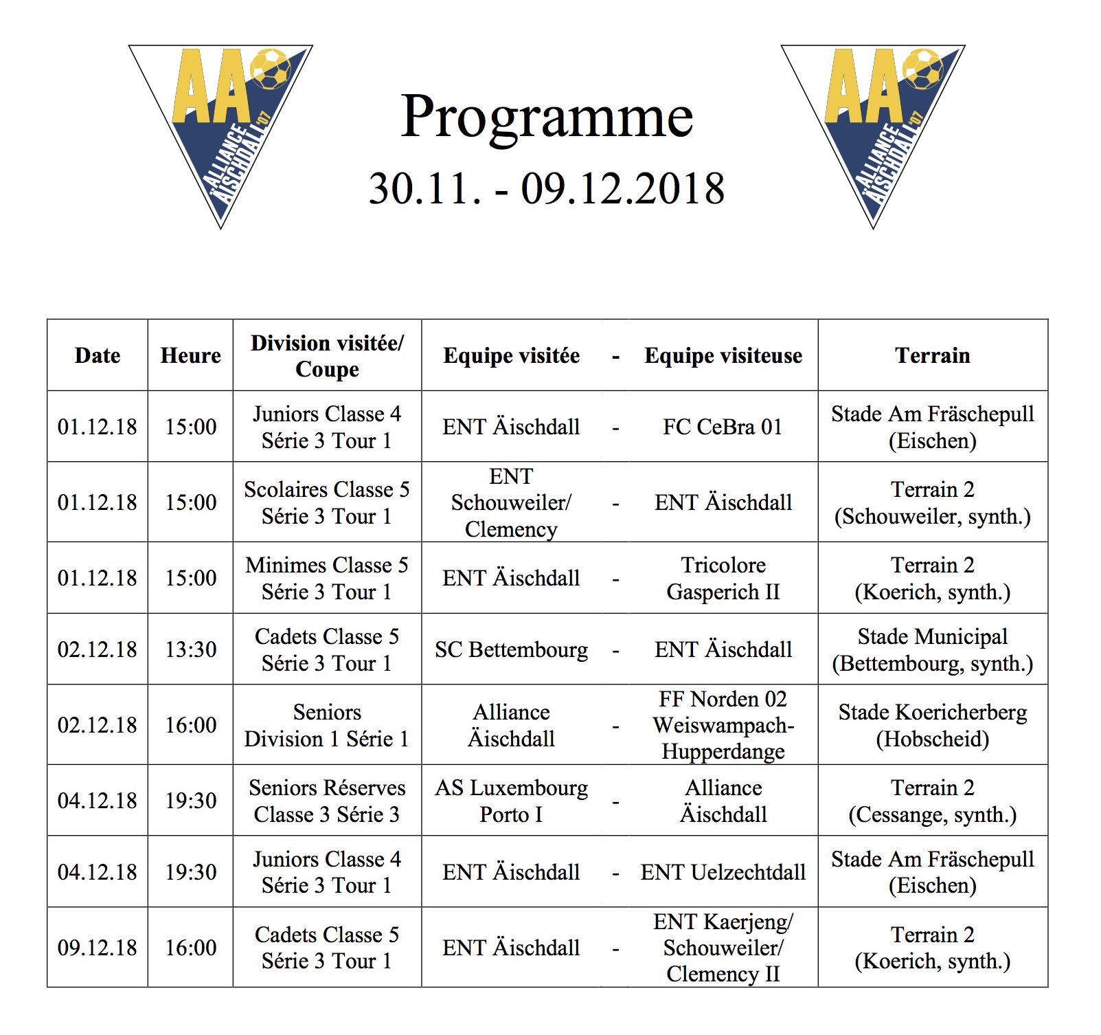 Programm 30.11.-09.12.2018