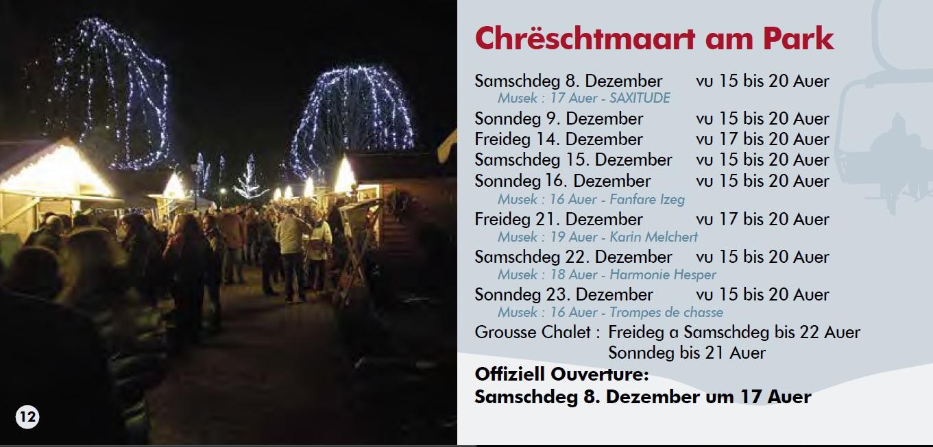 Concert um Chrëschtmaart am Hesper Park