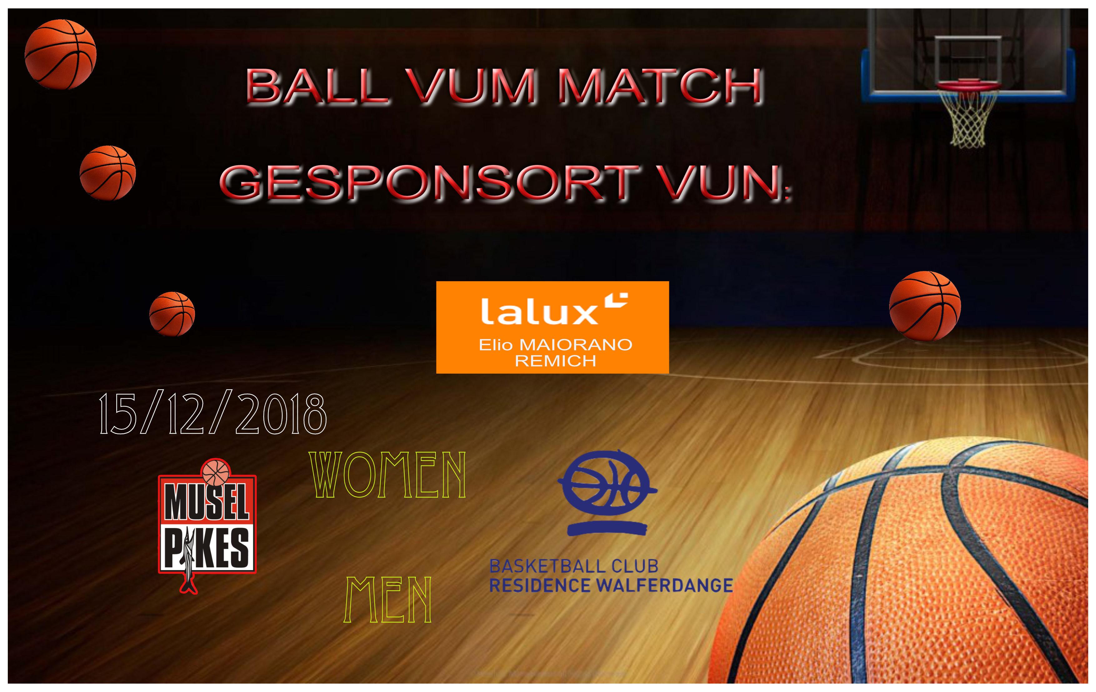 Den Elio MAIORANO sponsort de Ball Vum Match
