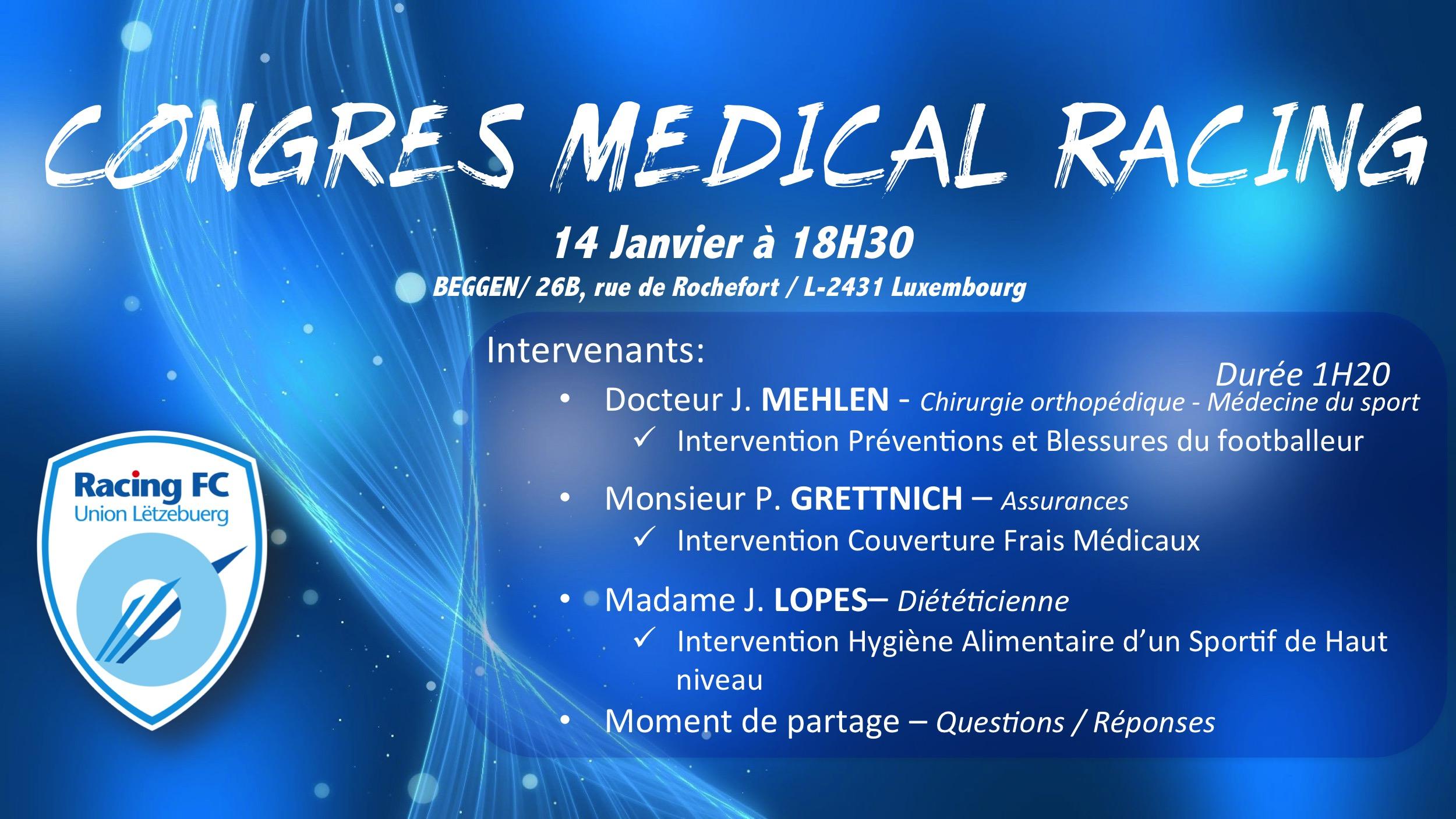 2ème Congrès Médical Racing