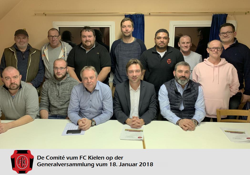 Generalversammlung vum FC Kielen!