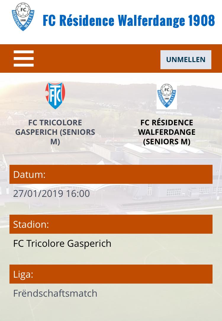 27/01/2019 Match amical