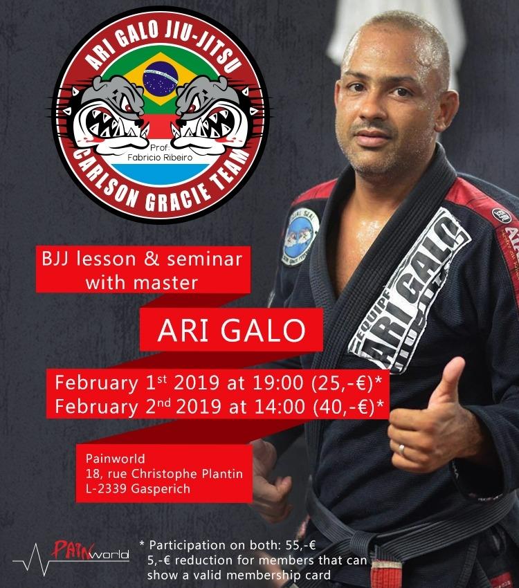 Stage BJJ avec Ari GALO le 1er et 2 février