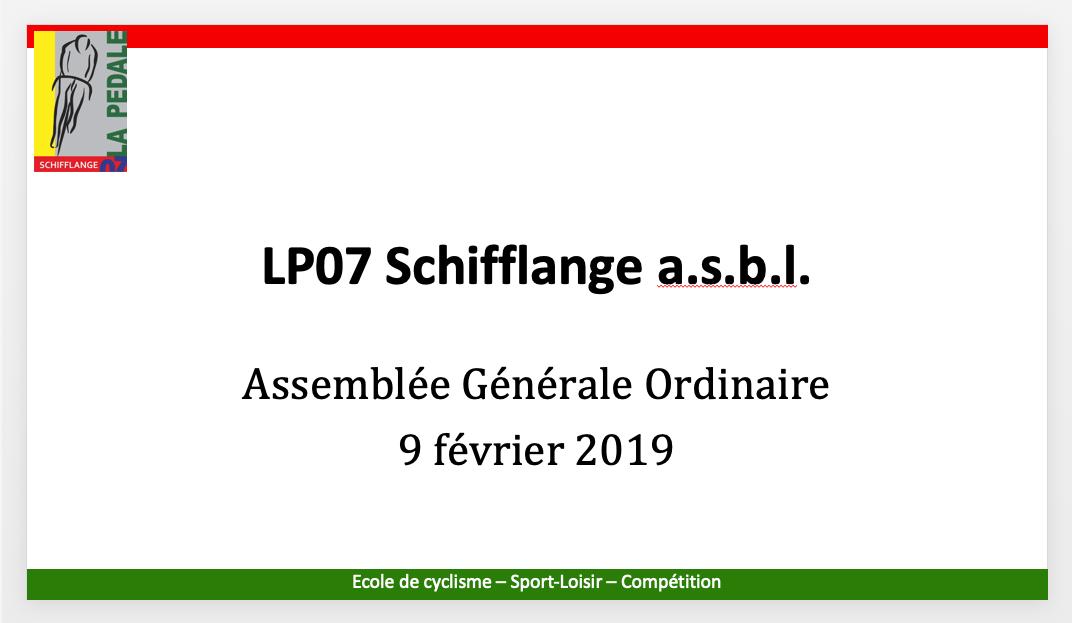 Generalversammlung vun der LP07 Schëffleng
