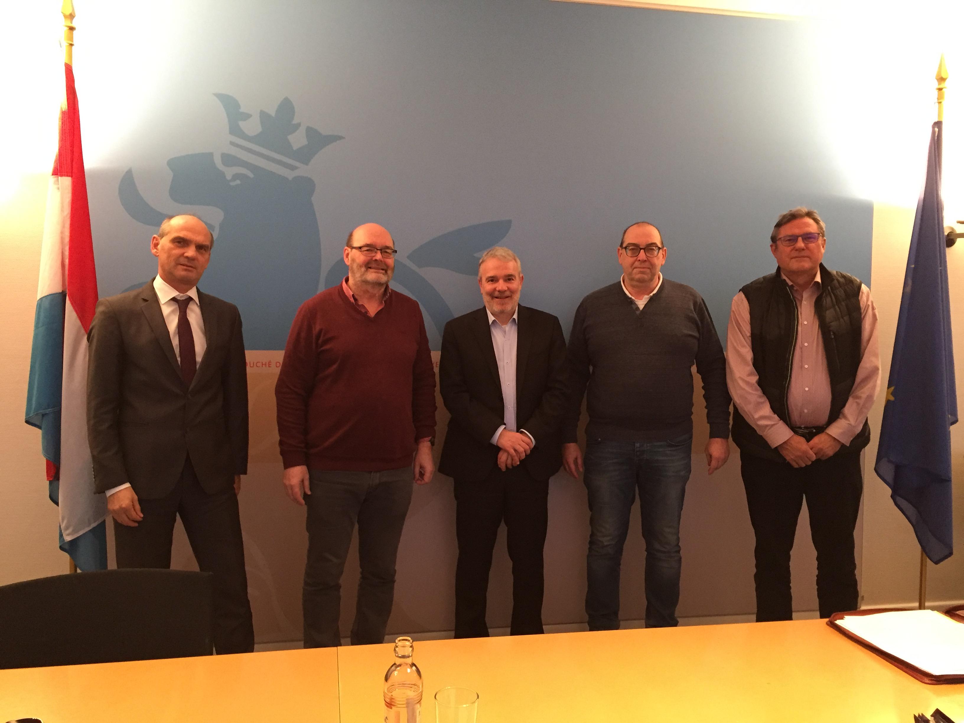 Réunion de travail avec le Ministre des Sports Dan Kersch