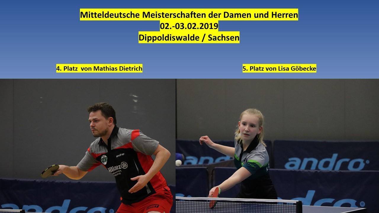 Sensationelles Ergebnis bei Mitteldeutscher Meisterschaft der Damen und Herren