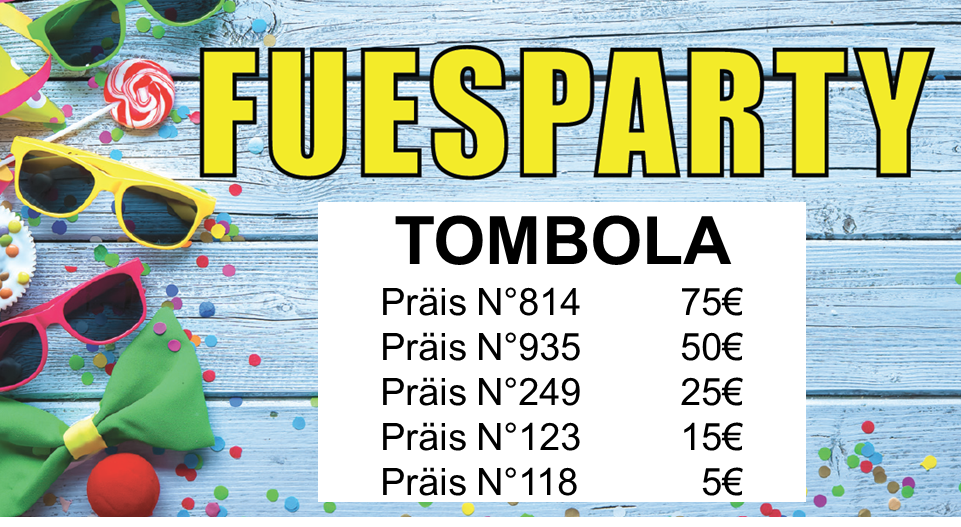 Tombola Fuesparty 2019