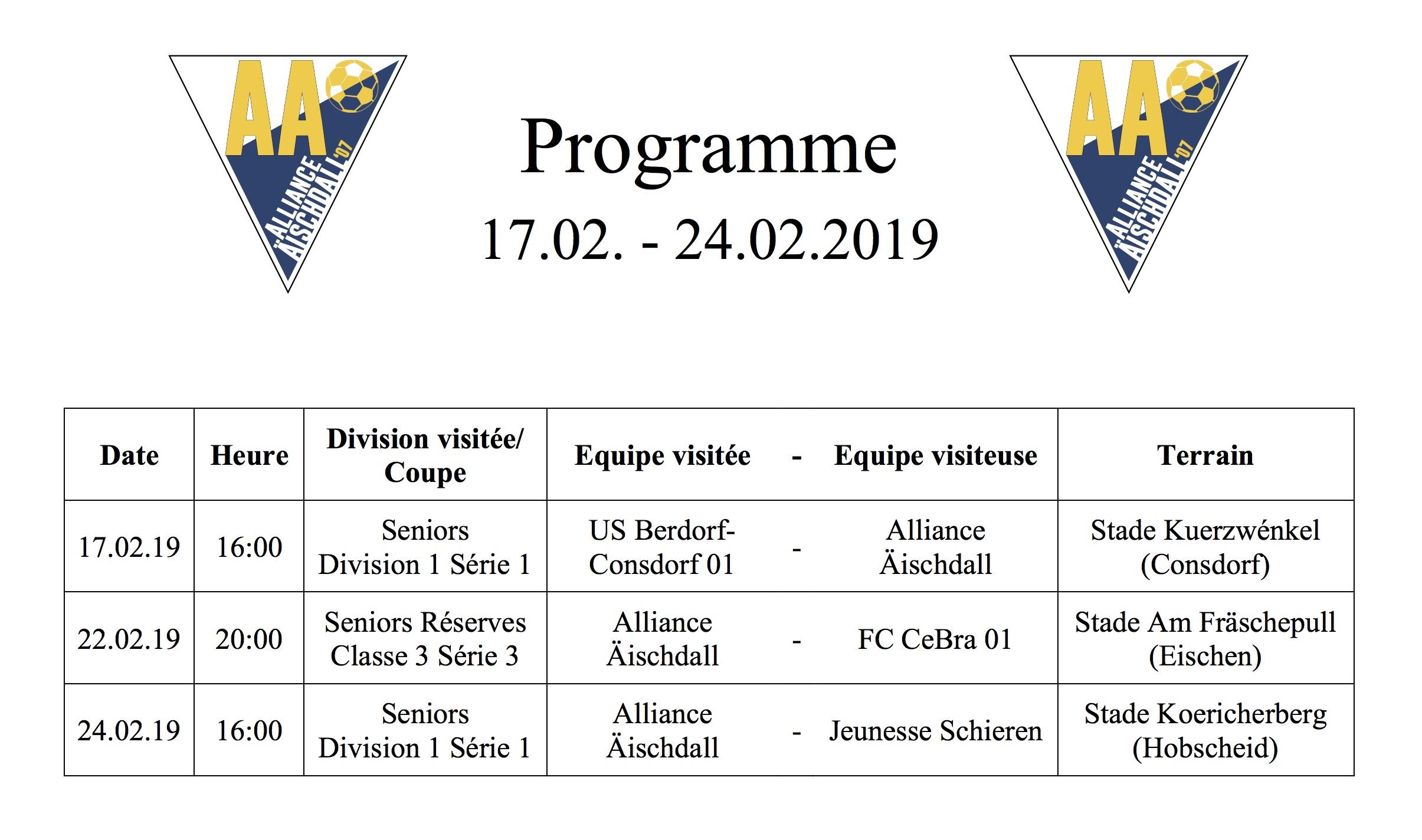 Programm 17.02.-24.02.2019