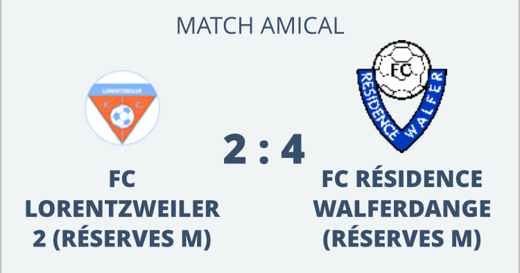 15/02/2019 Résultat Match Amical Senior Réserves