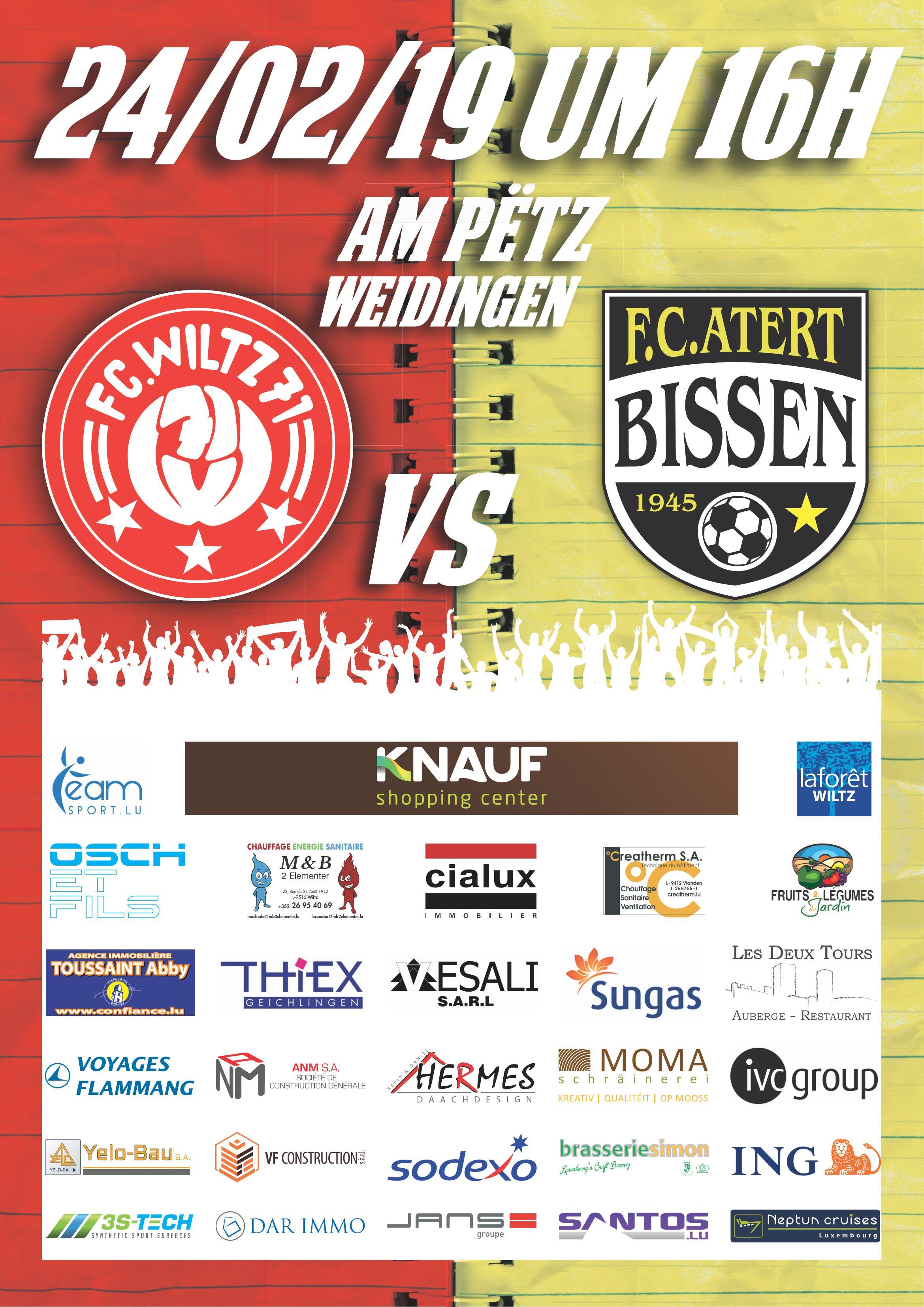 FC. Wooltz 71 vs F.C. Atert Bissen
