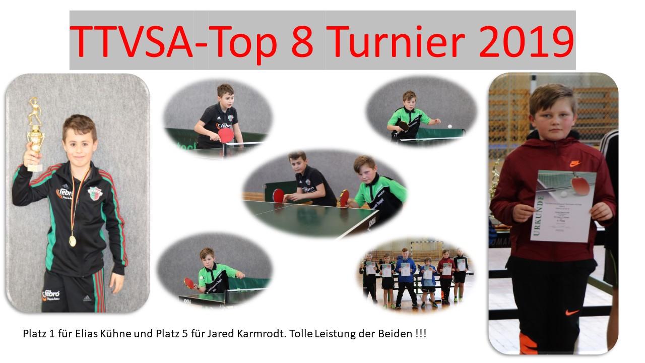 Jared Karmrodt und Elias Kühne beim TTVSA-Top 8 Turnier