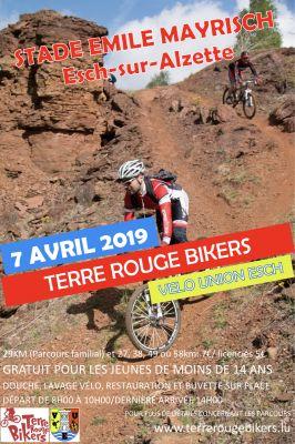 Parcours randonnée am Minett par Terre Rouge Bikers  le 7 avril 2109