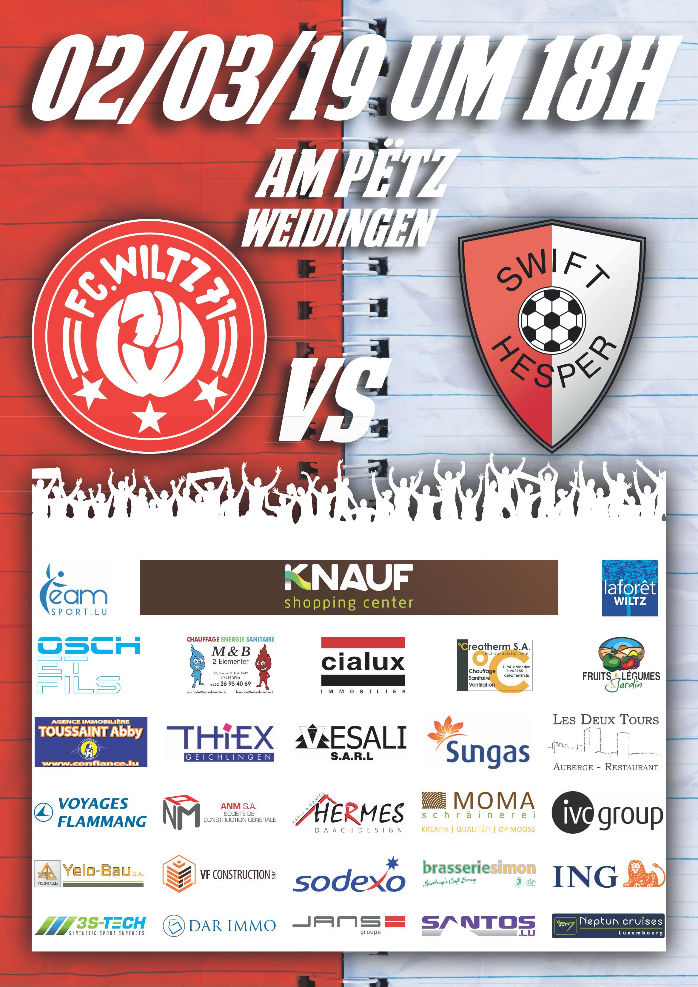 FC Wooltz 71 vs Swift Hesper