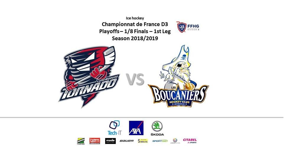 Sat 9/3 at 20:30 - 1st game of the 2nd playoff round in Kockelscheuer