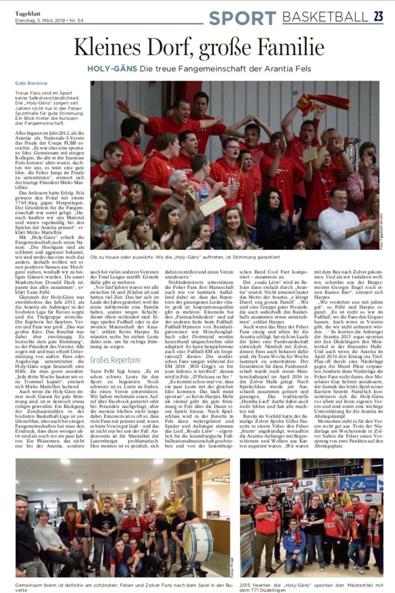 Tageblatt 05.03.2019