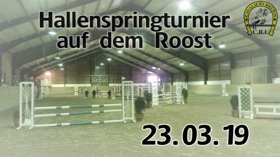 Morgen Nennungsschluss für unser 1. Hallenturnier und WBO Tag am 23-24.03.19