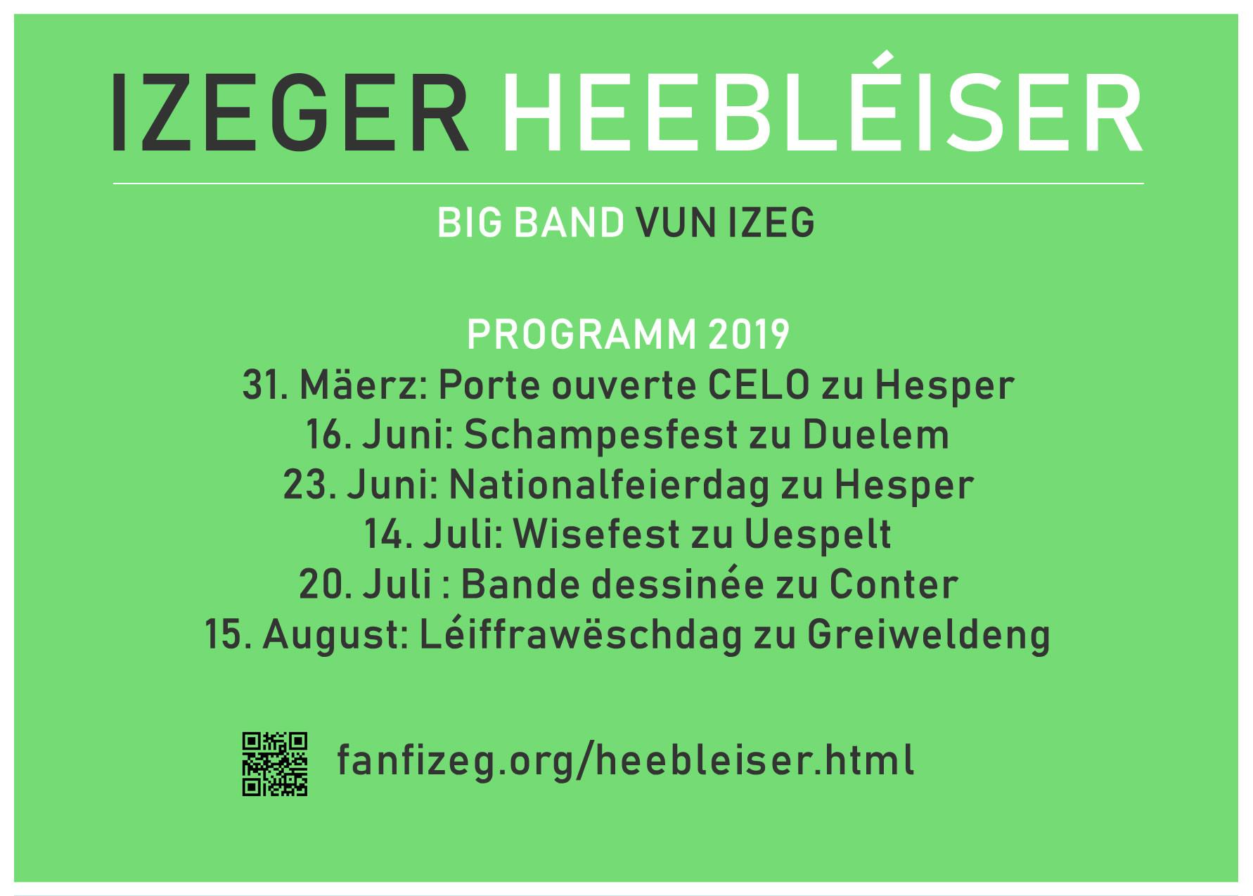 Izeger Heebléiser um Tour 2019