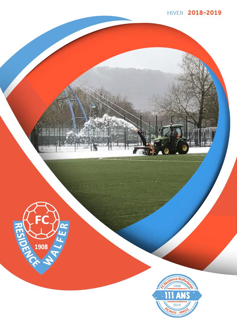 Parution de la nouvelle brochure FCRW 1908 hiver 2018-2019 !