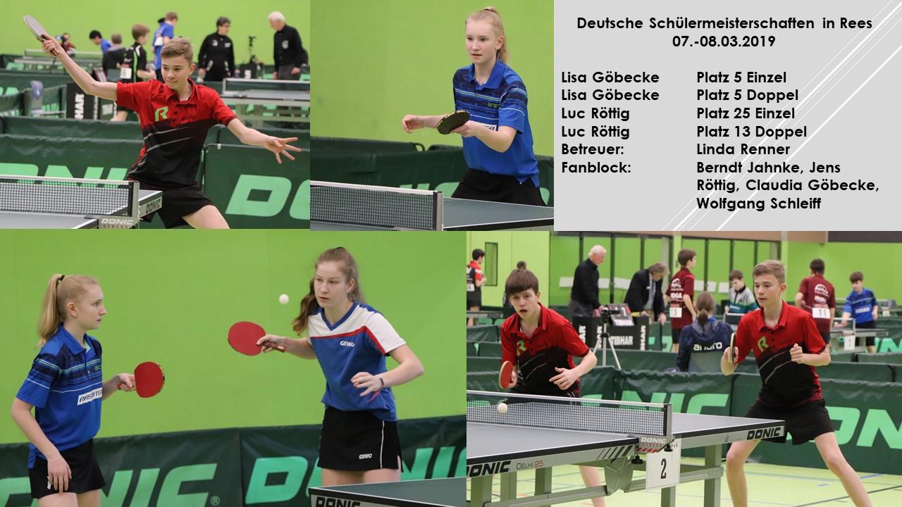 Lisa Göbecke mit Rang 5 im Einzel und im Doppel in der Erfolgsspur bei den Deutschen Meisterschaften