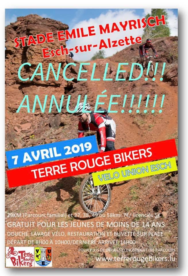 Randonnée am Minett par Terre Rouge Bikers  le 7 avril 2109 annulée