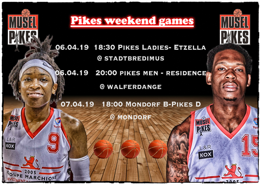 Pikes weekend games