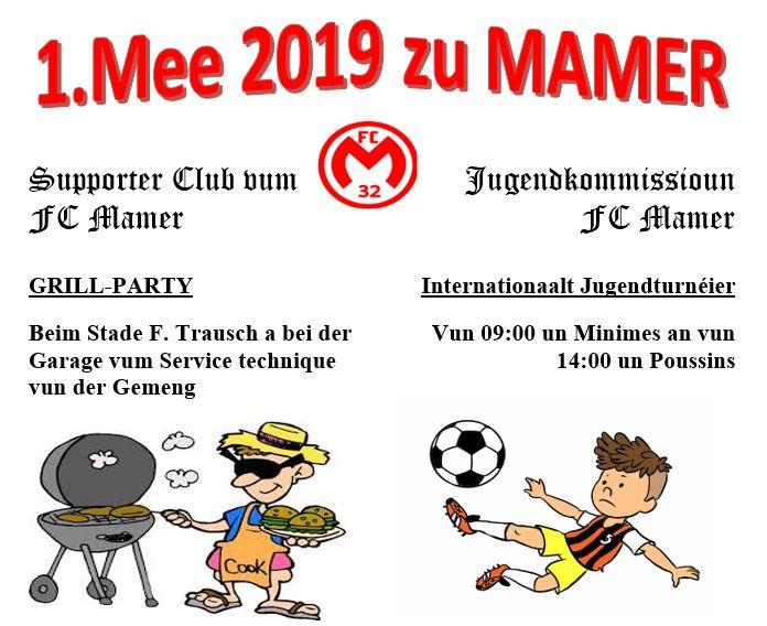 FC Mamer 32: Supporter Club a Jugendkommissioun invitéieren fir den 1. Mee