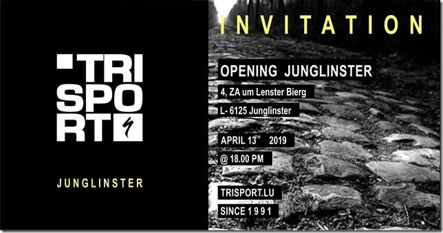 TRISPORT a le plaisir d'annoncer l'ouverture de son nouveau magasin à Junglinster