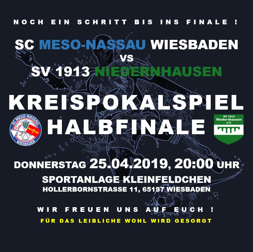 KREISPOKAL HALBFINALE - 25.04.2019 / 20:00 UHR