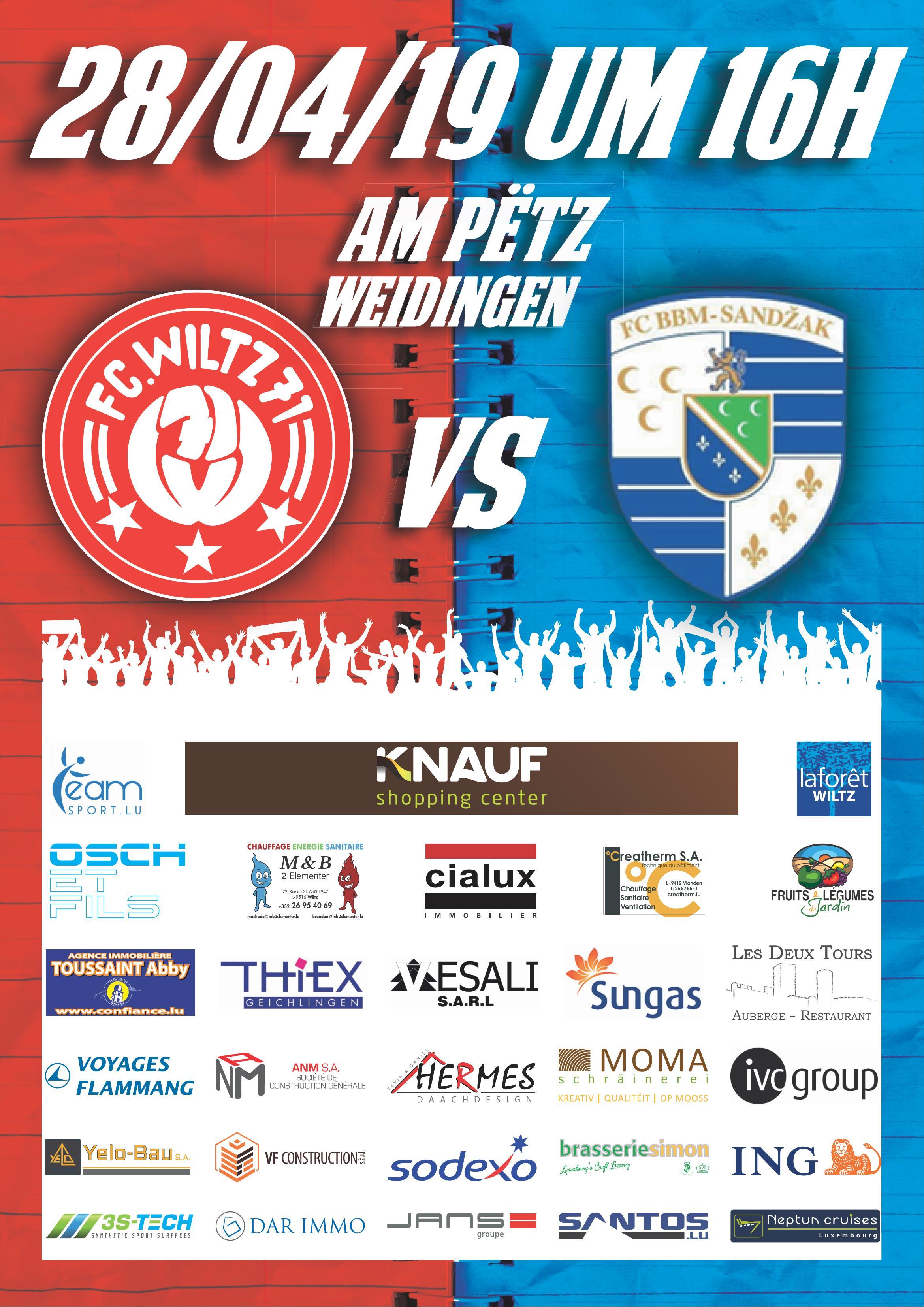 FC Wooltz 71  vs  FC Blue Boys Millebaach-Sandzak