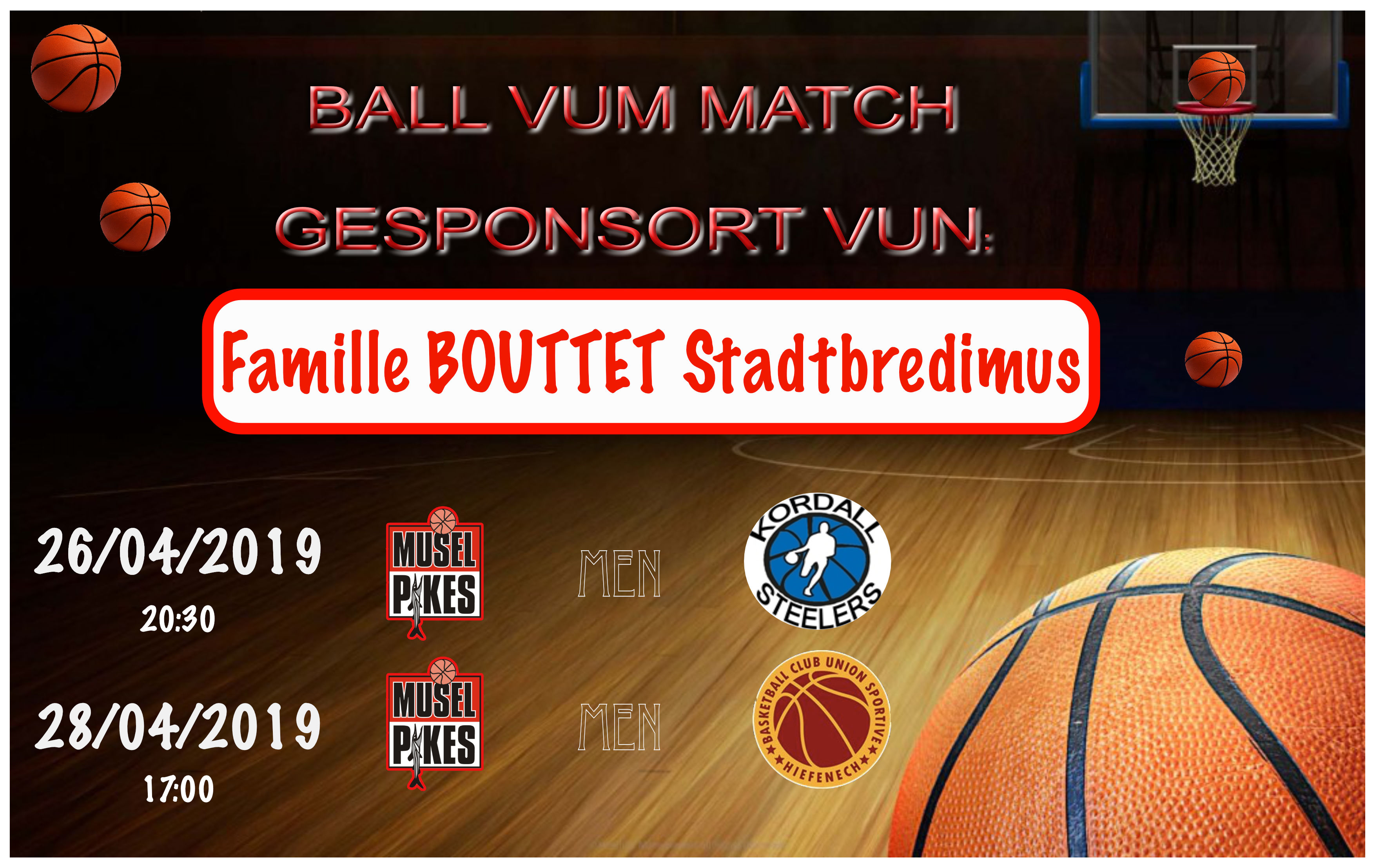 Ball vum weekend 26+28/04/19