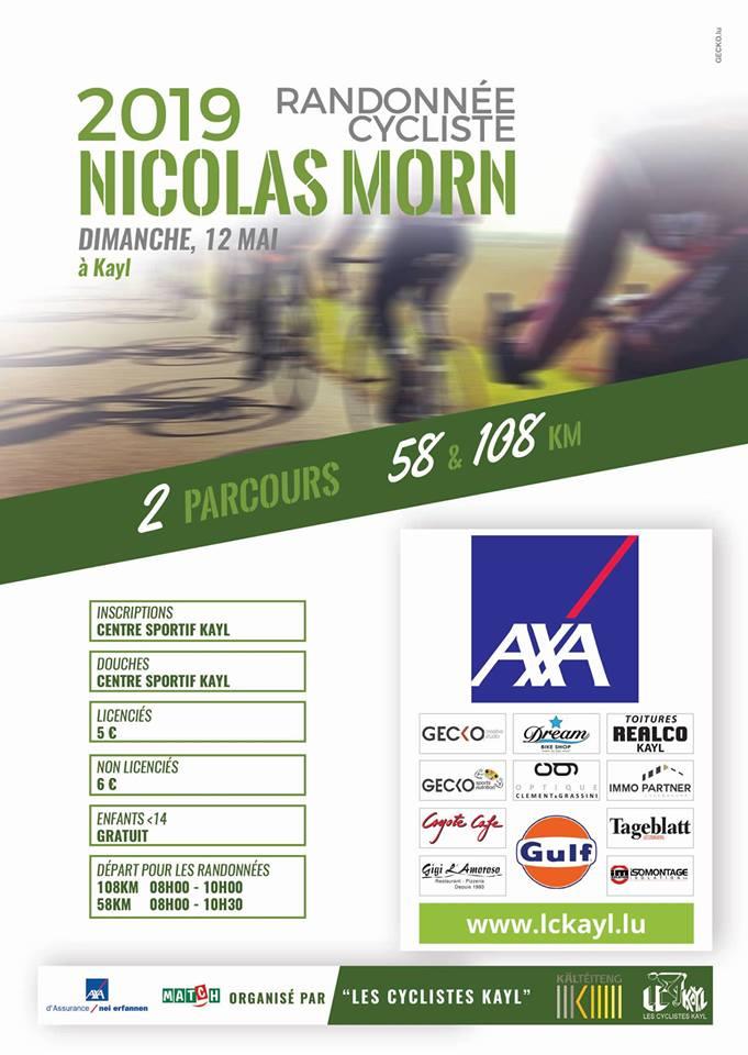 Randonnée cycliste Nicolas Morn 12 mai 2019 à Kayl