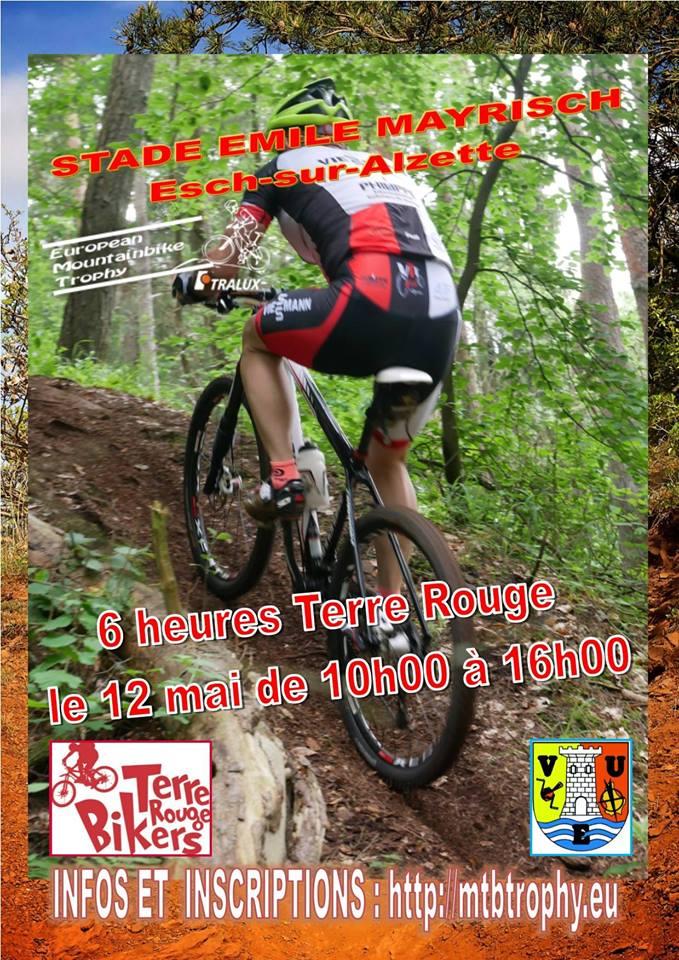6h VTT Terre Rouge  European Mountainbike Trophy  dimanche le 12 mai 2019 à Esch/Alzette