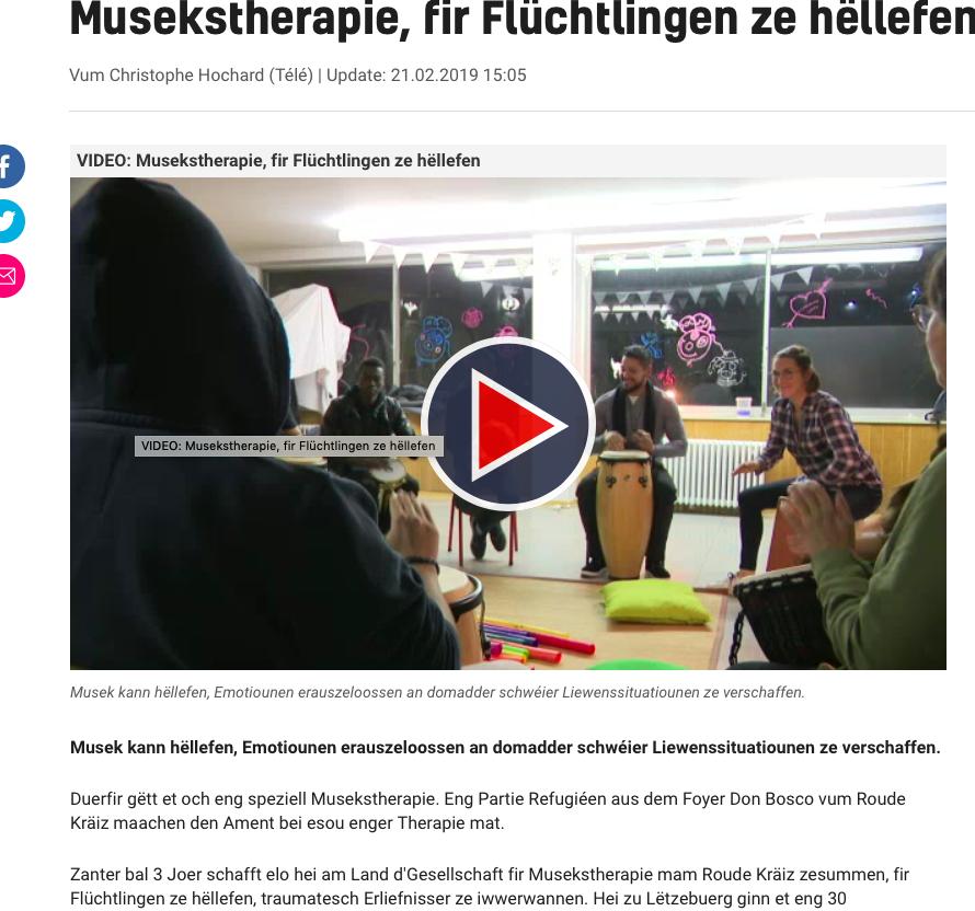 GML & Projet Mateneen @ RTL Telé Lëtzebuerg