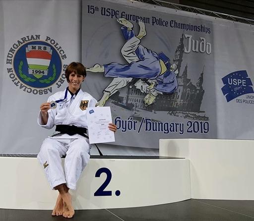 Jessica Lindner Vize-Europameisterin der Polizei