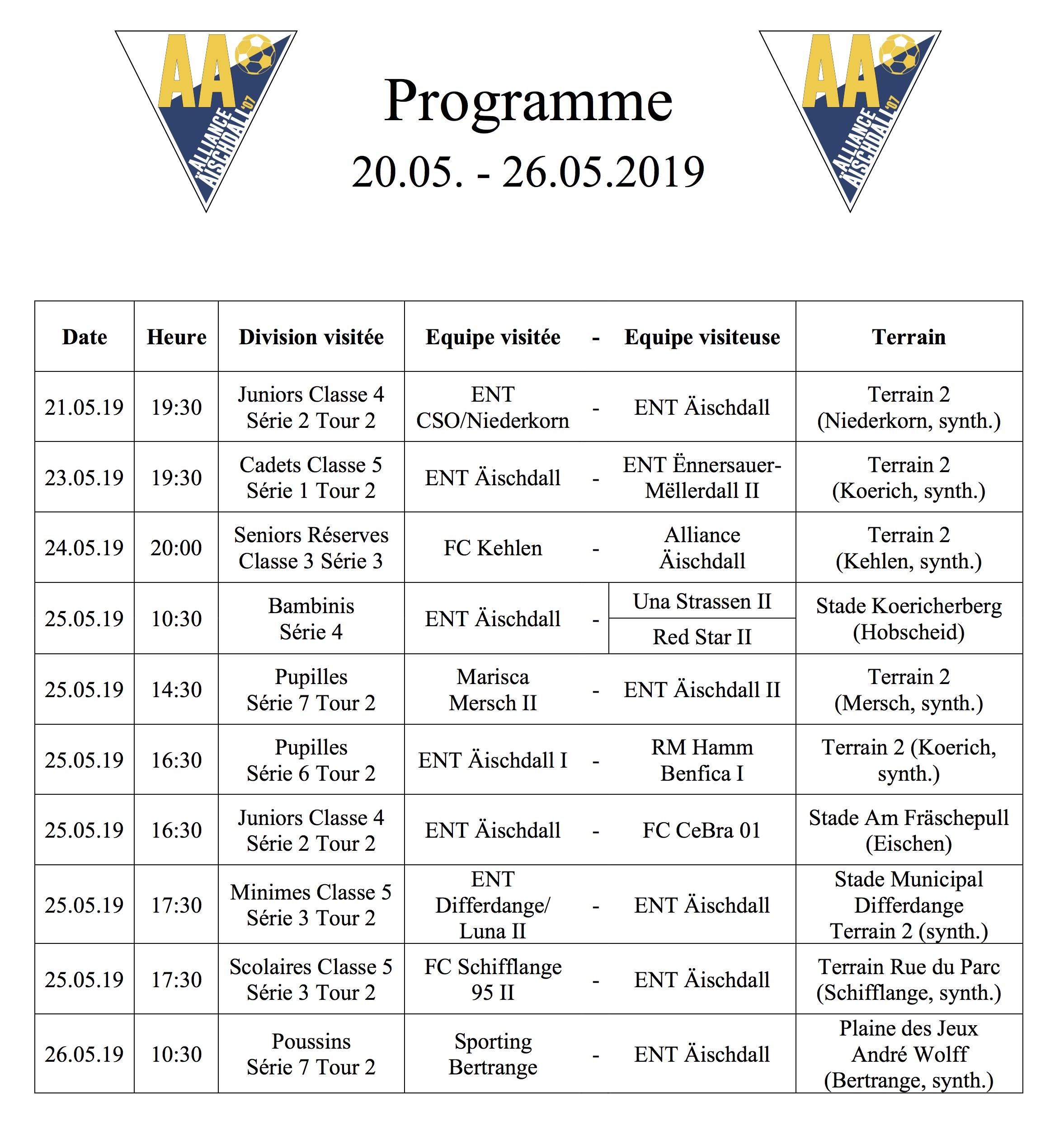Programm 20.05.-26.05.2019