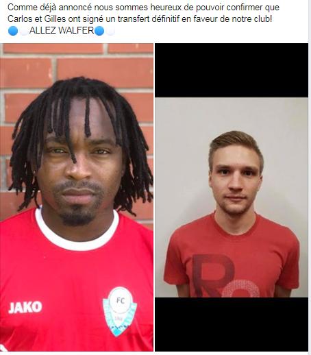 14/06/2019 Transferts défintifs 2019/2020 Carlos Gomes et Gilles Schank