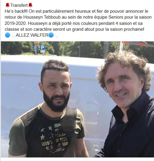 14/06/2019 Nouveau transfert 2019/2020 Housseyn Thebboub